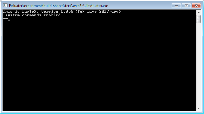 Running LuaTeX via the DOS prompt