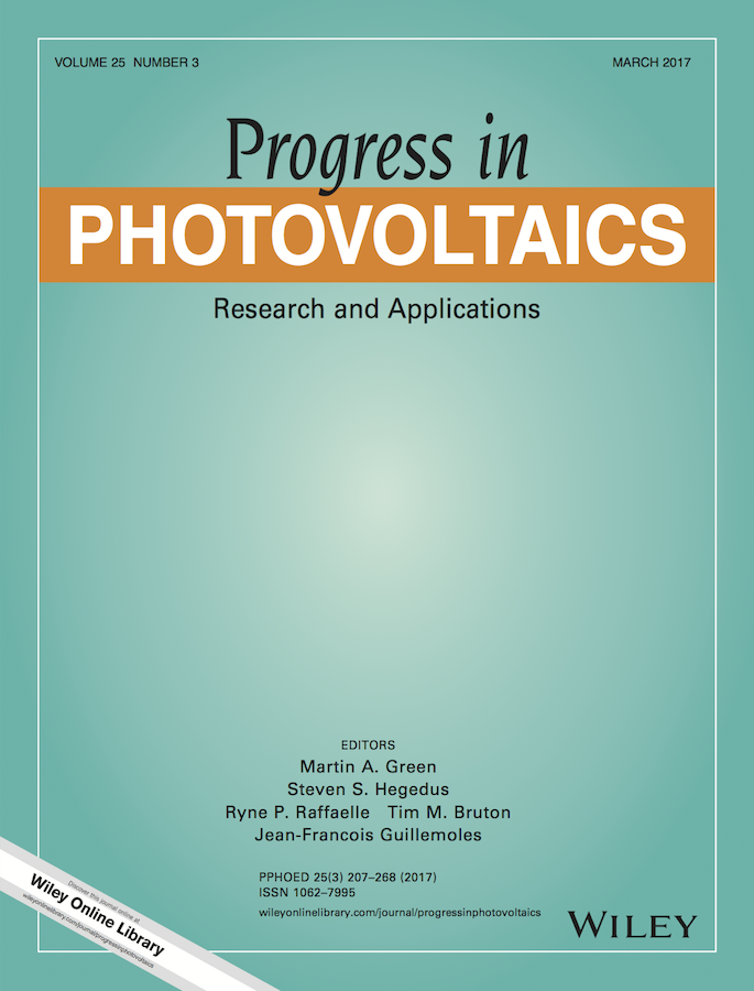 Template for submissions to Progress in Photovoltaics: Research and Applications