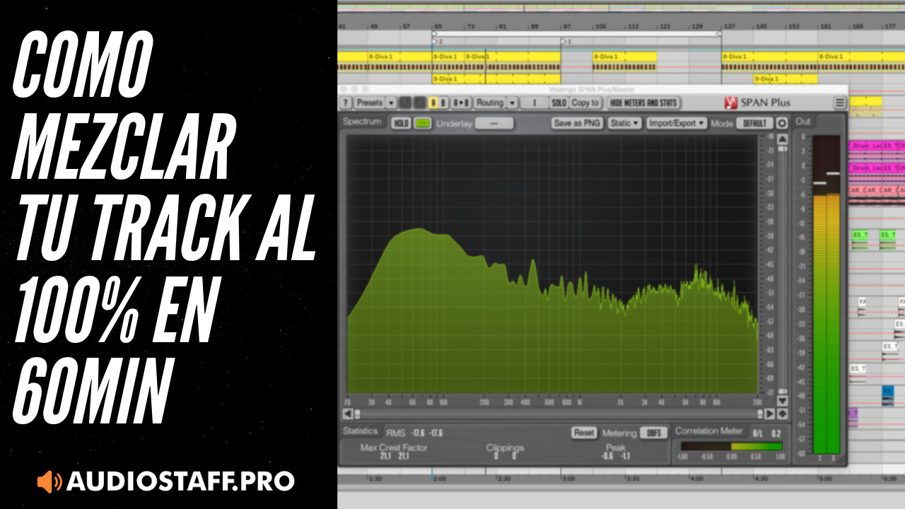 INSCRIBITE! En 60 minutos tendrás tu track mezclado, listo para masterizar!