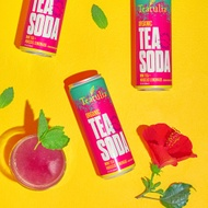 Mint Tea Soda (Hibiscus Lemonade) from Teatulia Teas