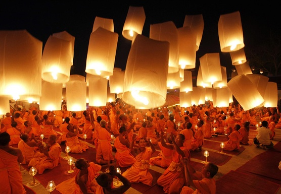 Celebrate the Spectacular Buddhist Lantern Festival in Beautiful Northern Thailand with Joanne and Anna Smallwood