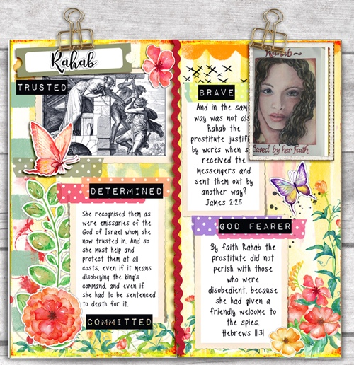 Who I am in Christ Bible Journaling in a Travelers Notebook Proverbs 31 & Bible Women Study #BibleJournaling #Travelersnotebook