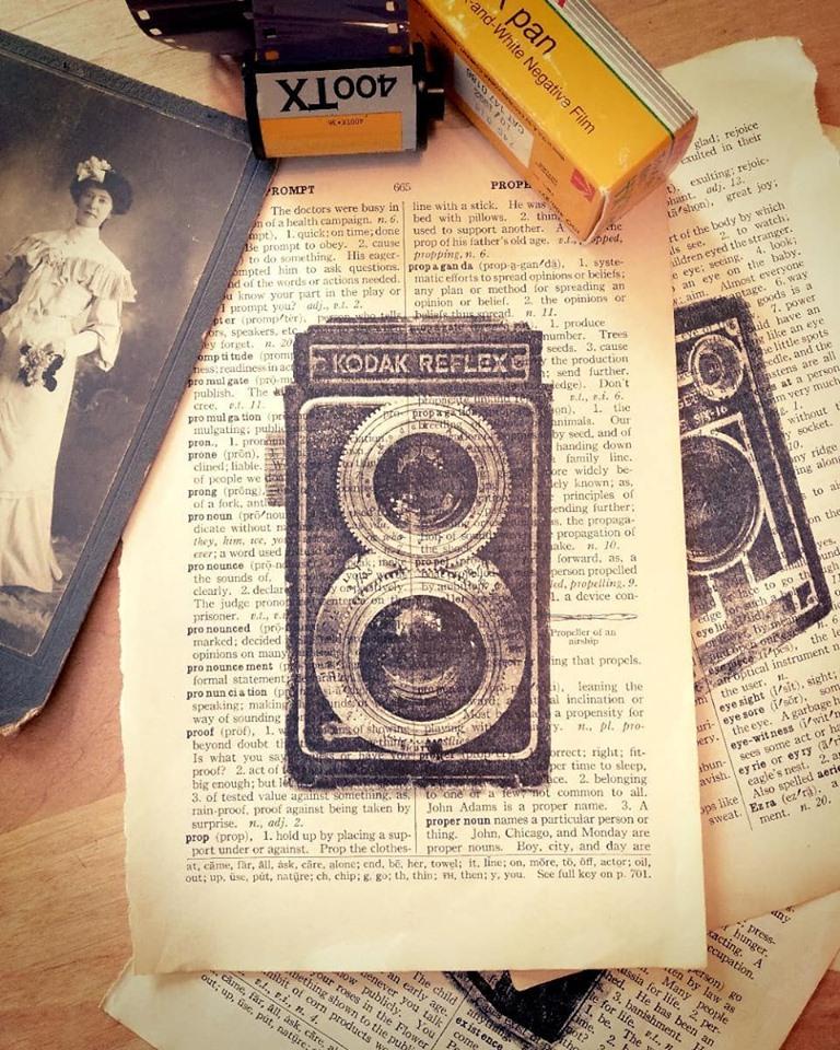 DIY vintage photo decor