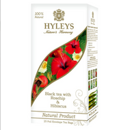 black tea with rosehips and hibiscus from Hyleys tea