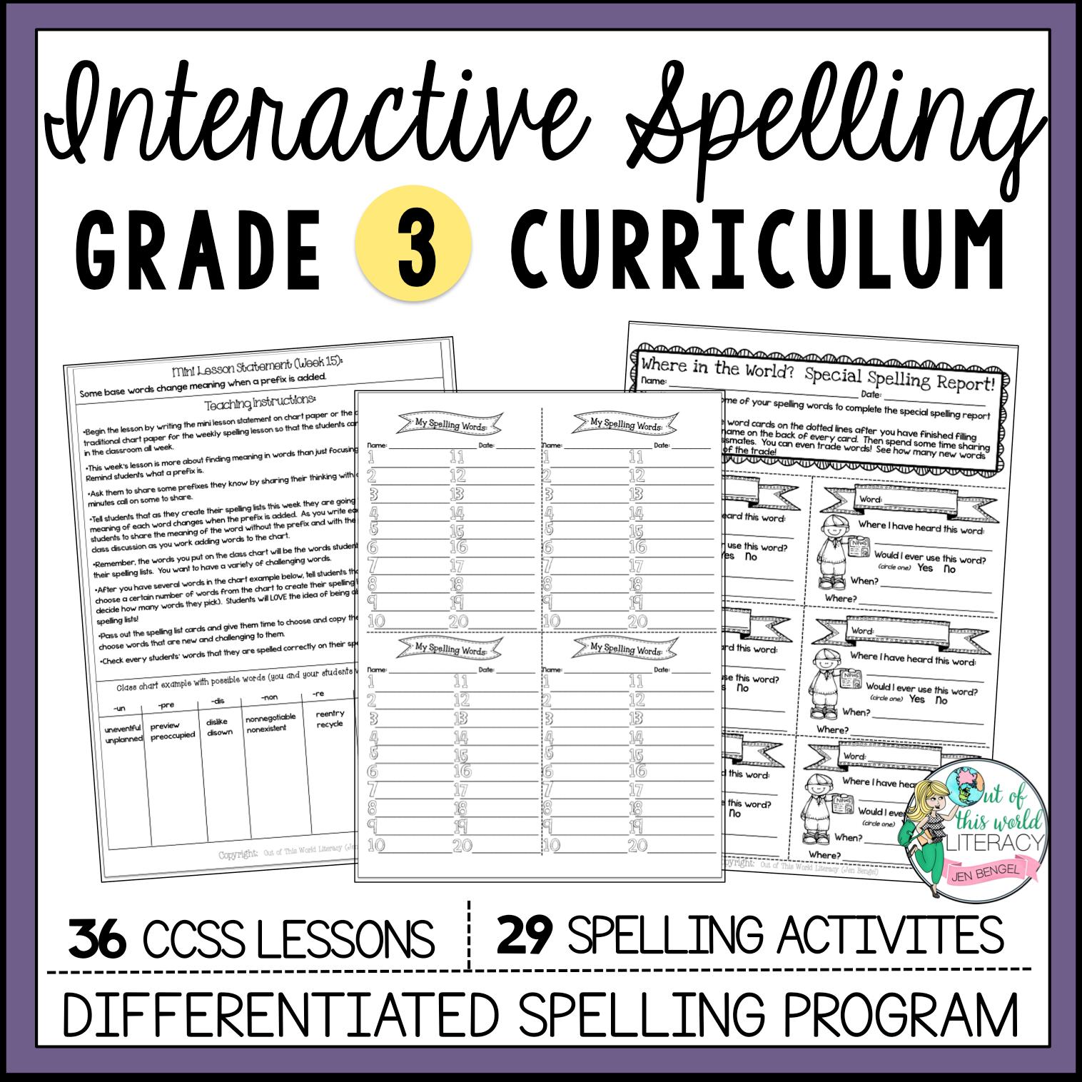 Interactive Spelling Grade 3  Jen Bengel