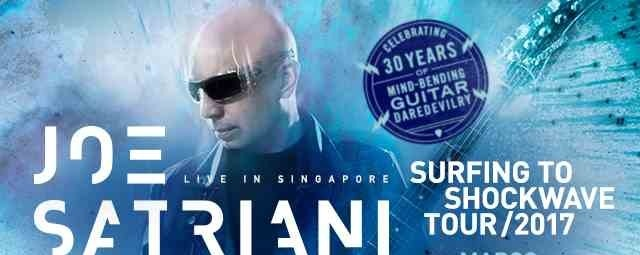 Joe Satriani - Surfing To Shockwave Tour 2017 - Live in Singapore