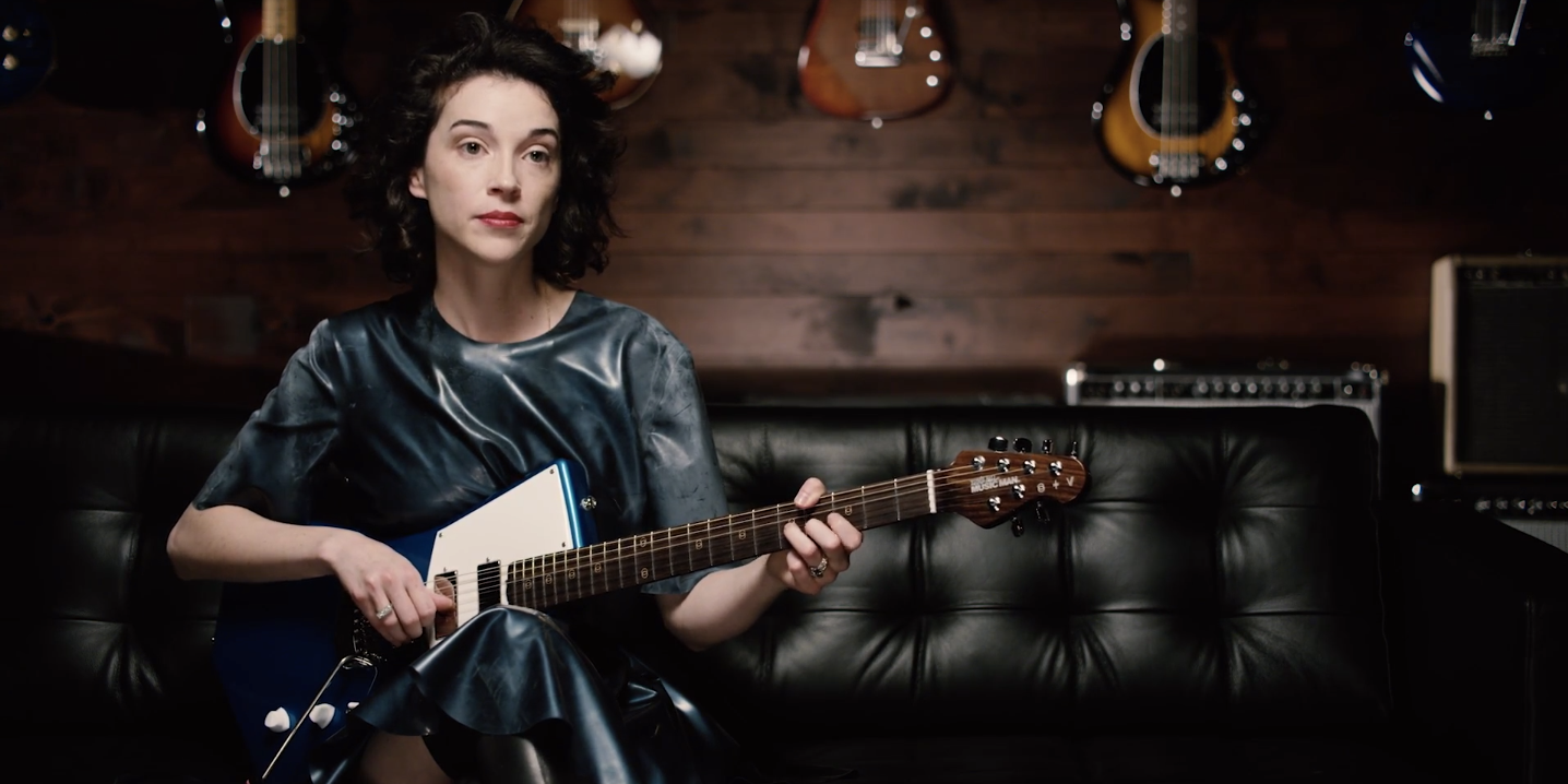 WATCH: St. Vincent talks about the creation and importance behind her custom-made Ernie Ball guitar