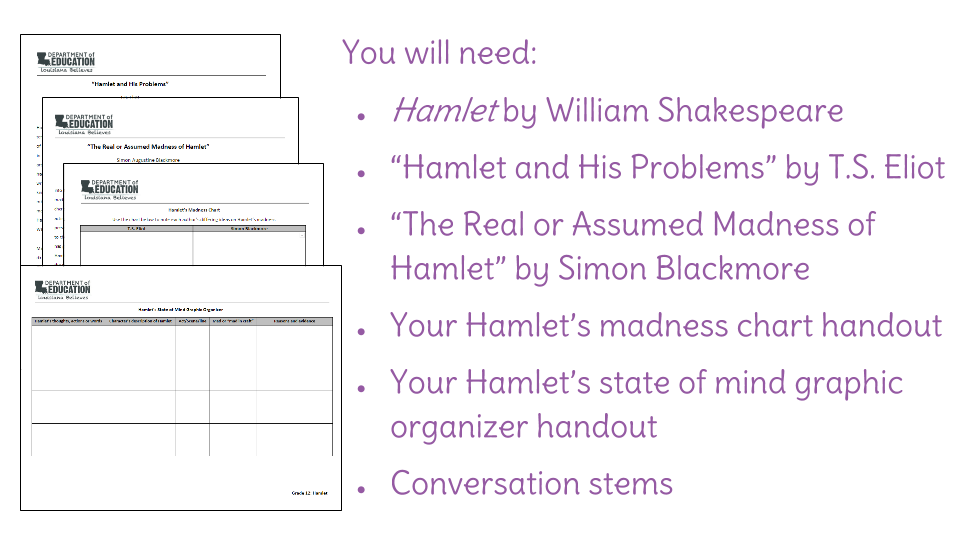 hamlet and his problems summary