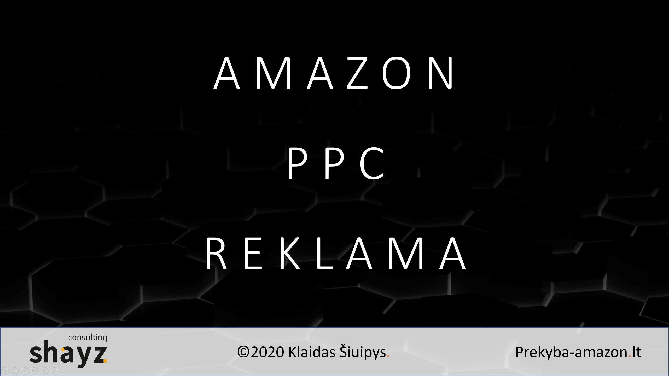 Amazon PPC reklama