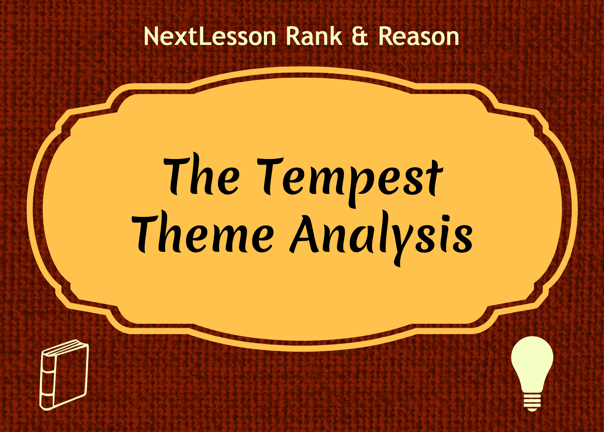 an analysis of the other theme in the tempest Because of its theme of a the tempest: characters, symbols, themes you are unlike many of shakespeare's other works, the tempest is unique in the fact.