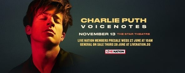Charlie Puth 'Voicenotes' Live in Singapore