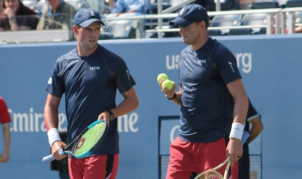 The Bryan Brothers talking about doubles strategy