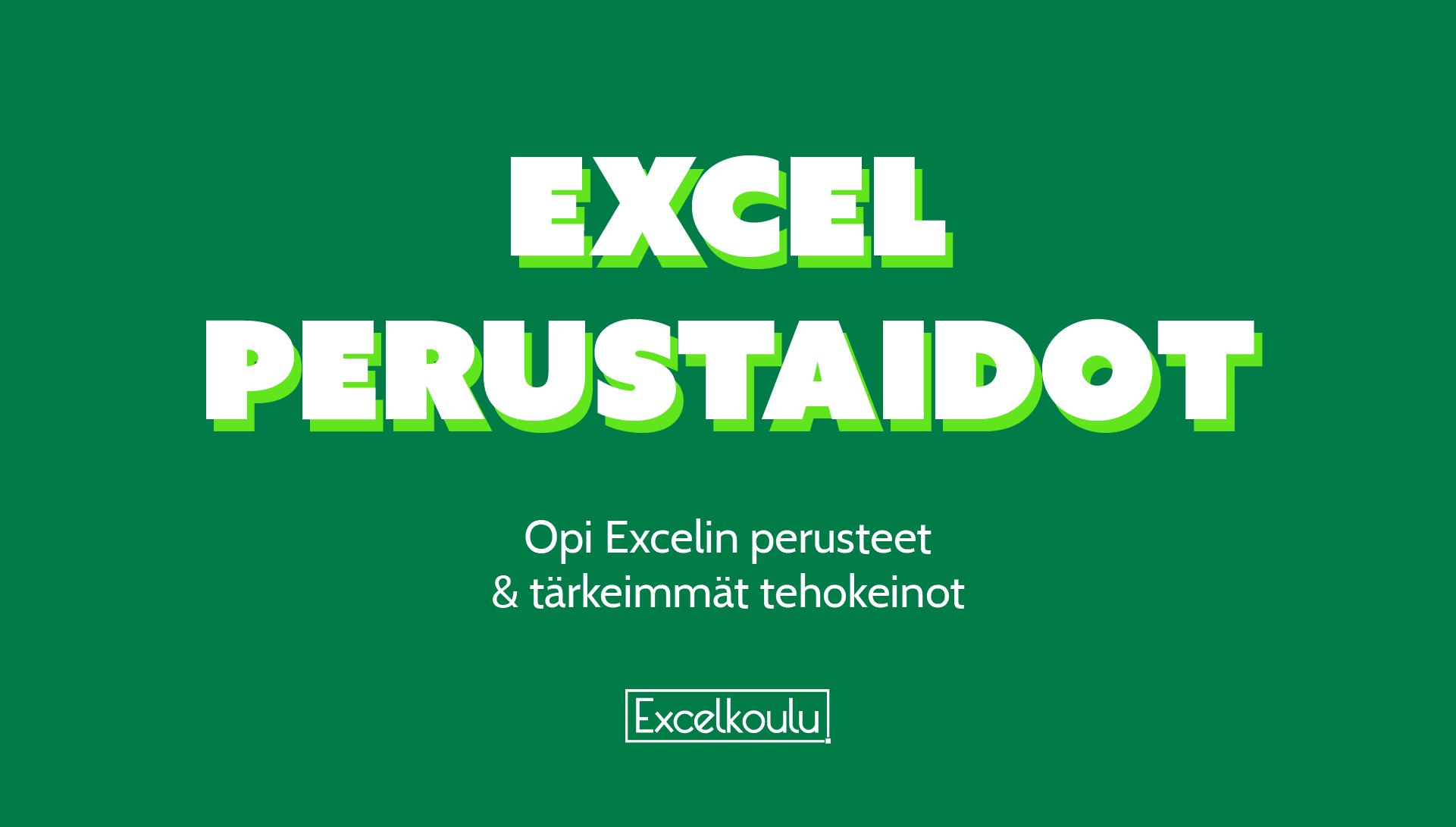 Excel Perusteet