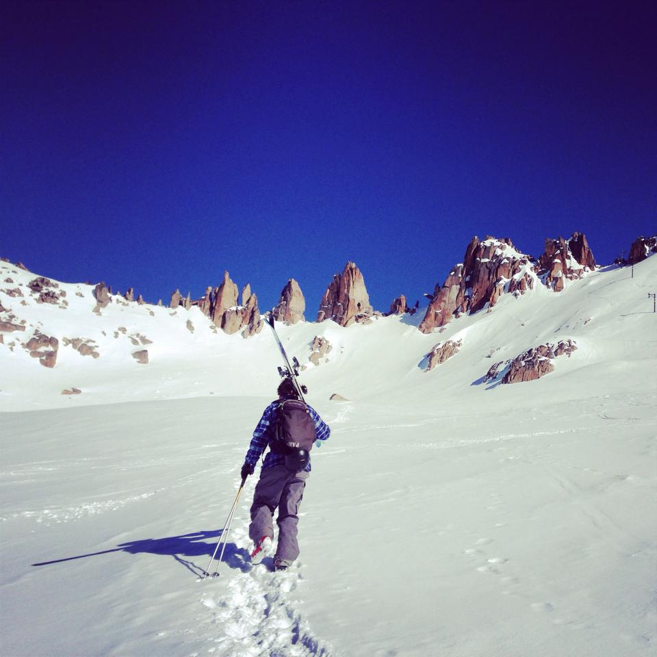 Ski coach Marcos hiking