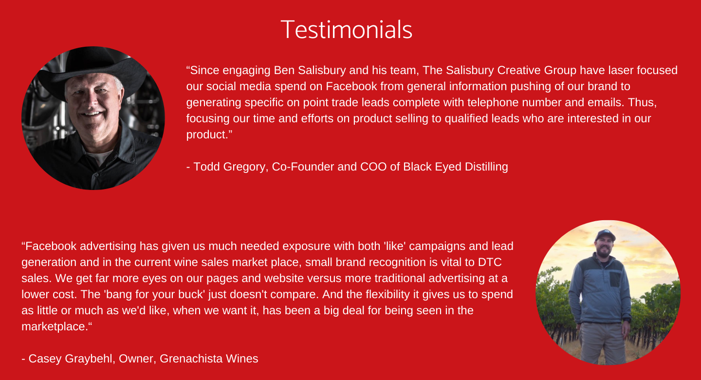 Salisbury Creative Group Facebook Ads Testimonials