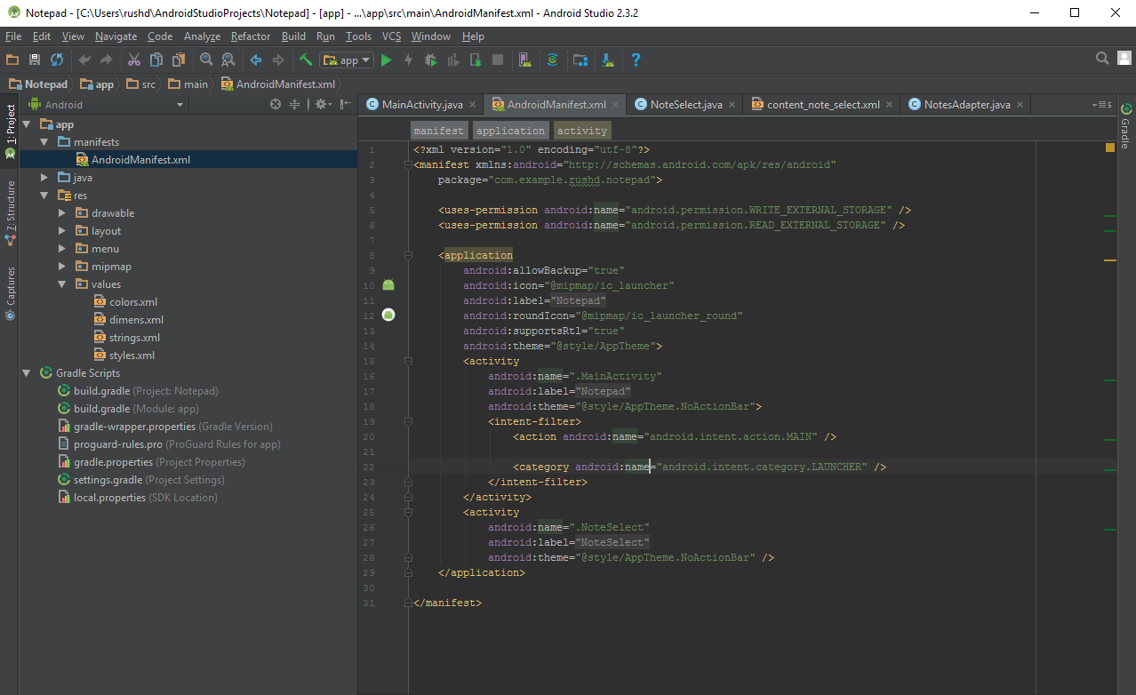 How to use Android Studio and the files that make up your app