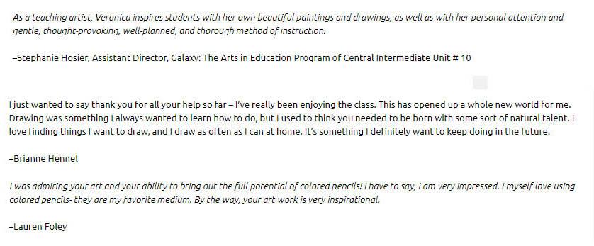 veronica winters art school teachable