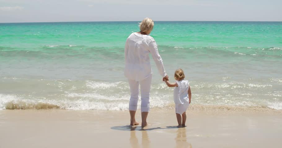 Retiree at beach