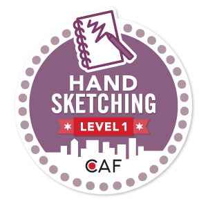 Badge for Hand Sketching - Level 1