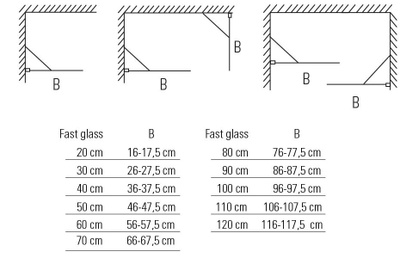 Glassfelt, rett 100x193