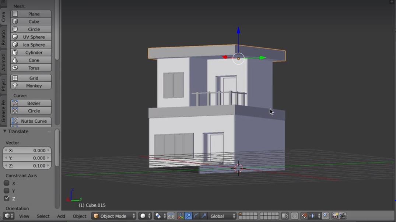 3d House Design In Blender Make Low Poly Art For Unity