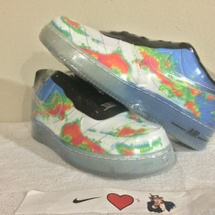 DS NIKE AIR FORCE 1 COMFORT PRM W-MAN SIZE 10.5 599457 100 WEATHERMAN