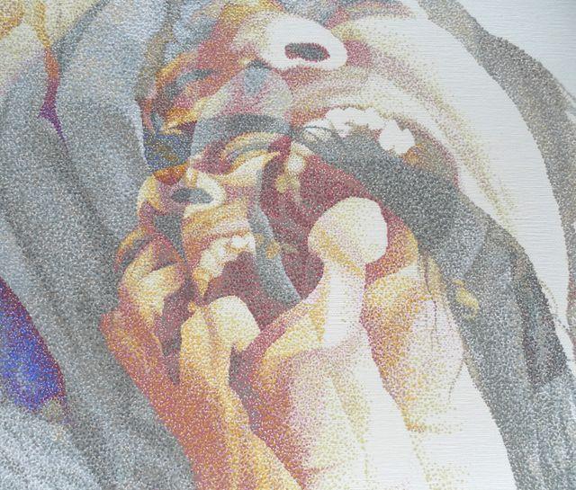 image: JoKa pointillist dotart dotted seurat dotting dotwork detail