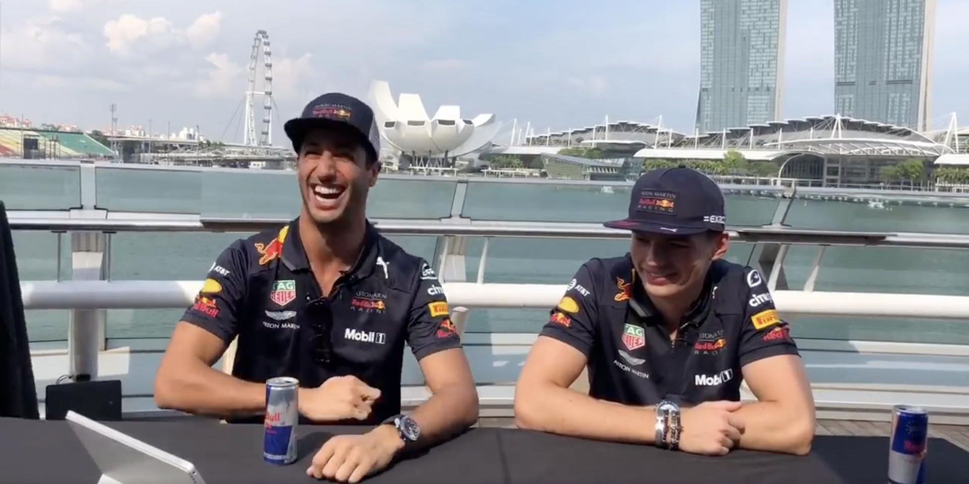Red Bull drivers react to Singaporean music