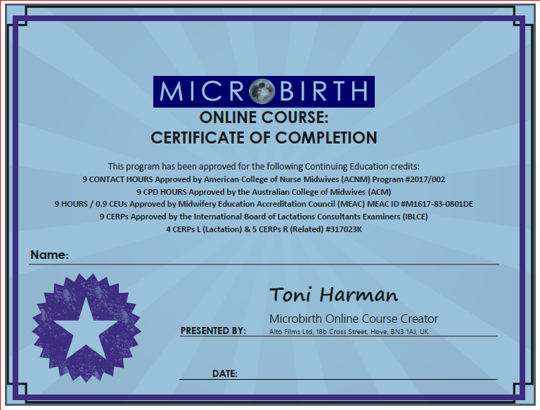 Microbirth Online Course For Australian College Of Midwives Members