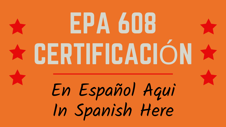 Spanish EPA 608 certification