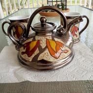 Handmade Ceramic Teapot from Tivelasi Pottery