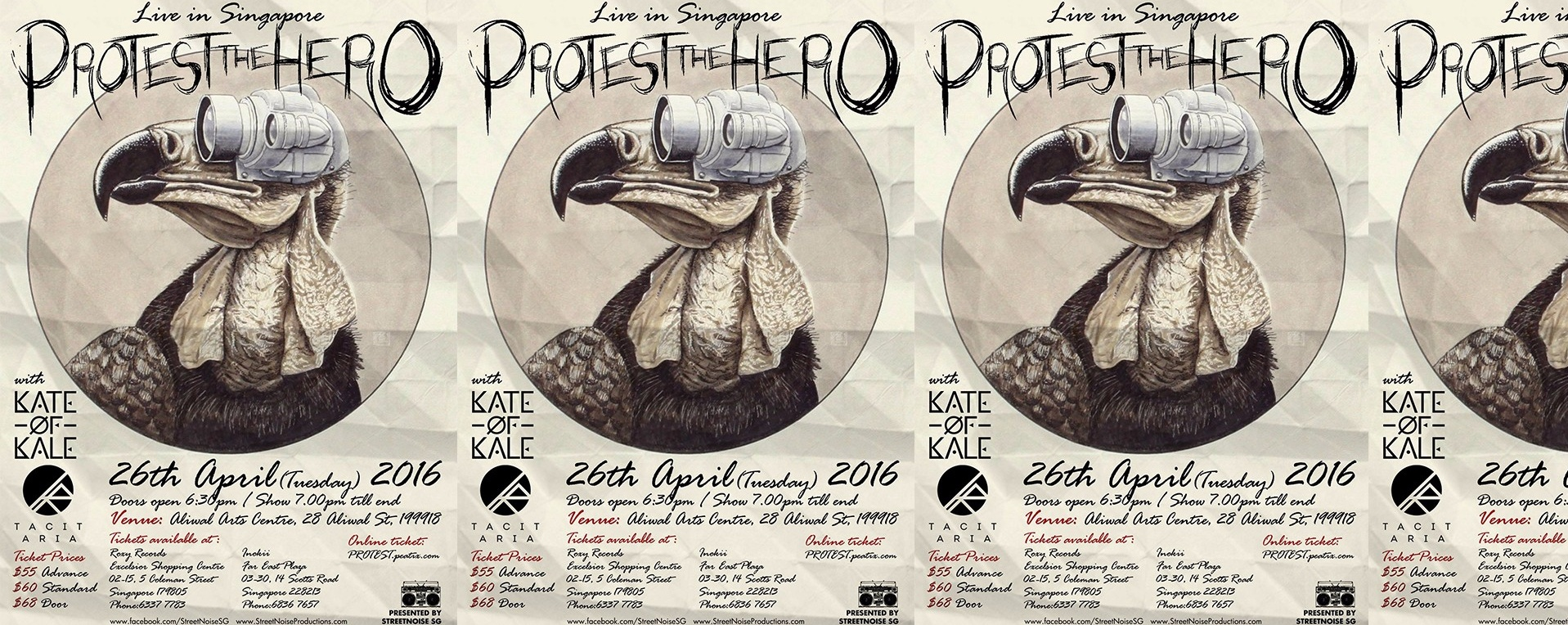 PROTEST THE HERO (CAN) - Live in Singapore, 26th April 2016!