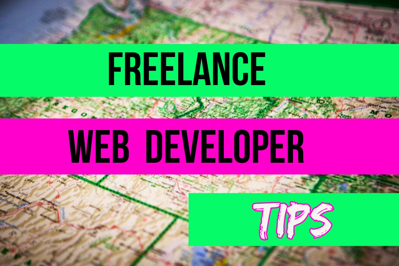 freelance web developer tips over a map of the northwest US states