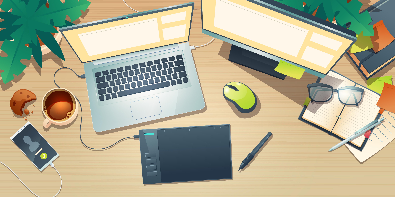 Espacio de trabajo para curso virtual