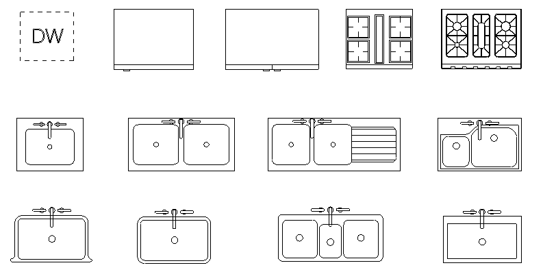 Furniture and appliance template for SketchUp