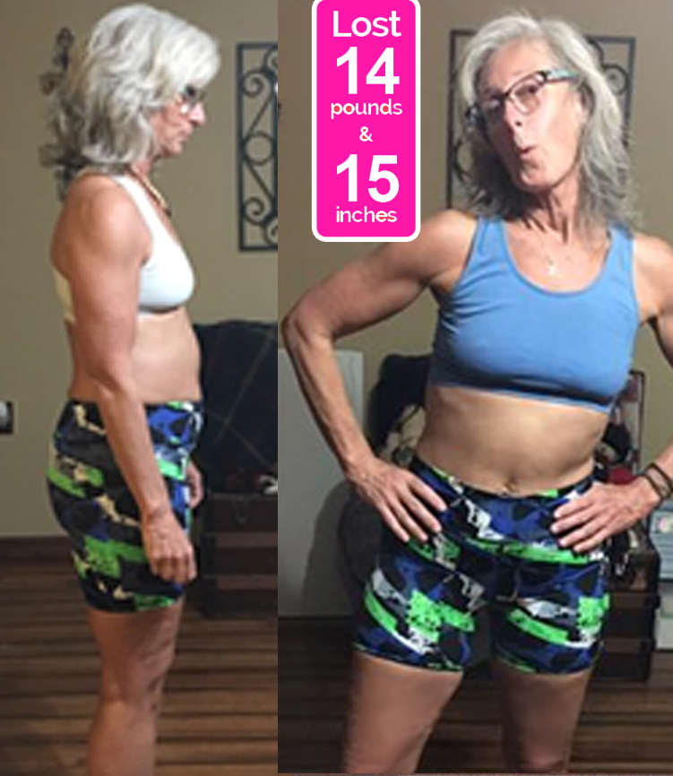 Cathy Before & After Pics - Janis Saffell 4 Week Fat Blaster