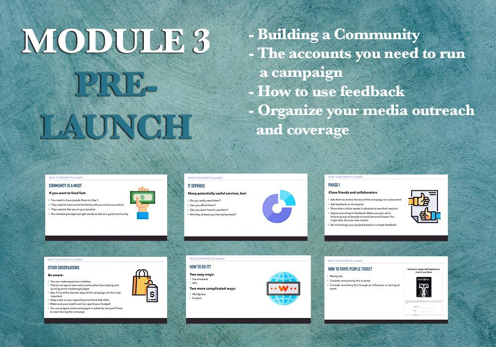 Crowdfunding campaign pre-launch