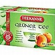 Gruner Tee Pfirsich (peach green tea) from Teekanne