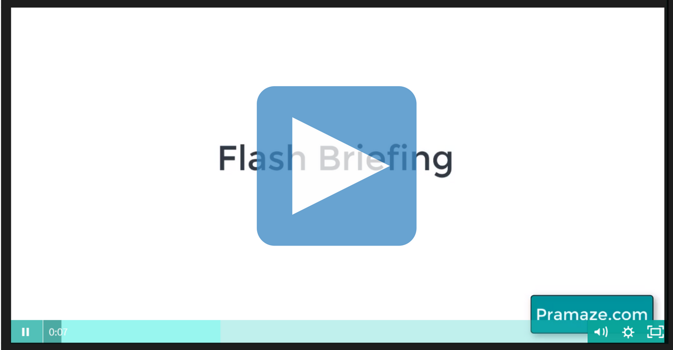 What is an amazon alexa flash briefing