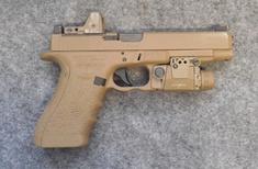 "Glock 34 MOS 9mm 5.25"" FDE   Viridian / Trijicon"