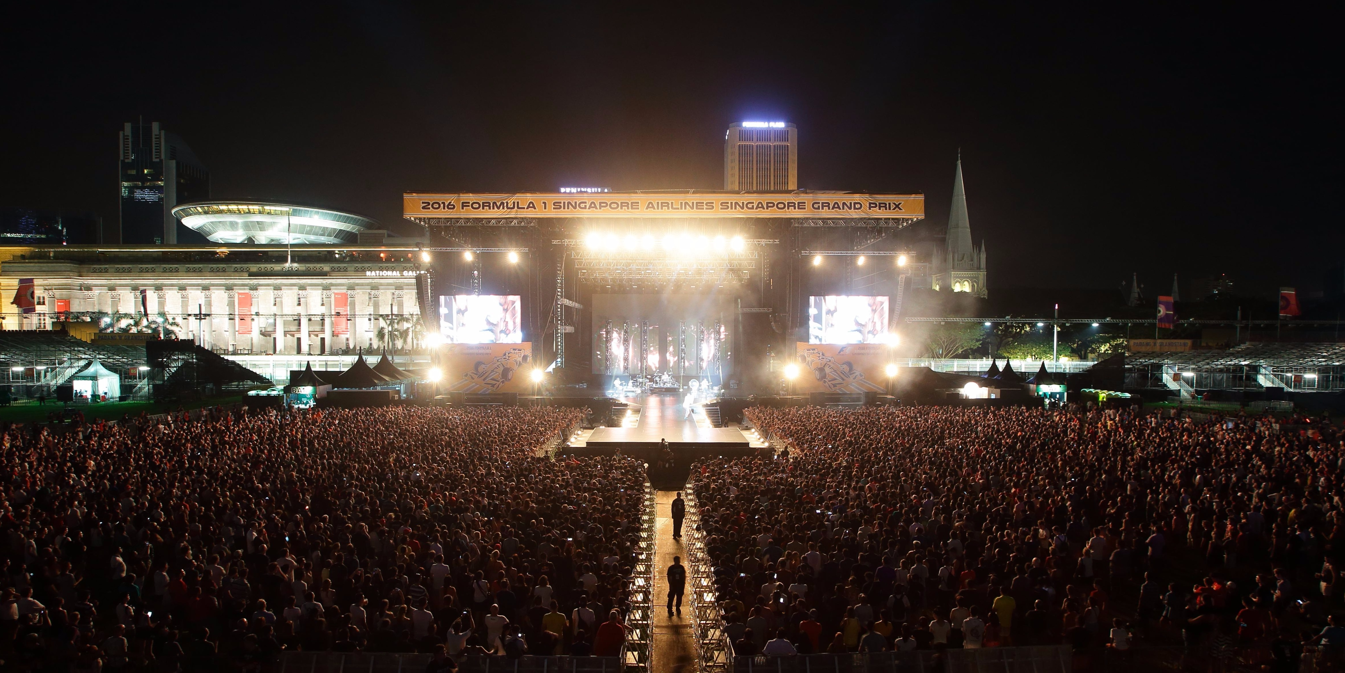 Singapore Grand Prix 2017, a festival for music and race fans