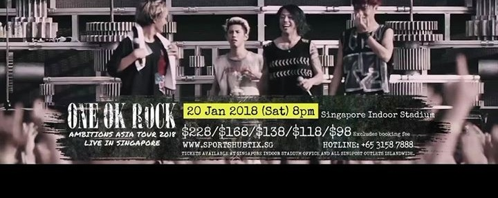 ONE OK ROCK Ambitions ASIA TOUR 2018 Live in Singapore