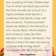 Pumpkin Patch from Handmade Tea