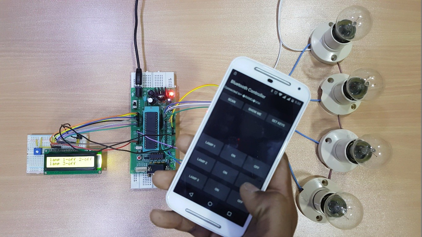 Bluetooth controlled electronic home appliances electronics hub about this course it is designed for anyone who are interested in developing 8051 based projects as this will introduce the 8051 hardware and programming solutioingenieria Gallery