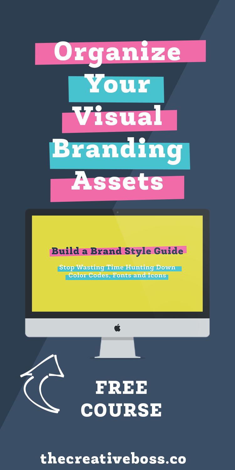 Do you waste time hunting down fonts or colors that you regularly use for your visual branding? STOP! Take the free course, Build a Brand Style Guide, and organize your visual branding today.