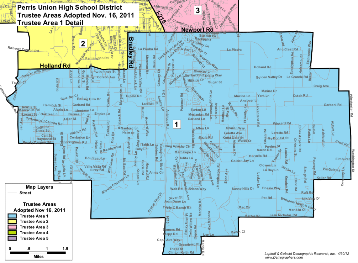Trustee Map Area 1