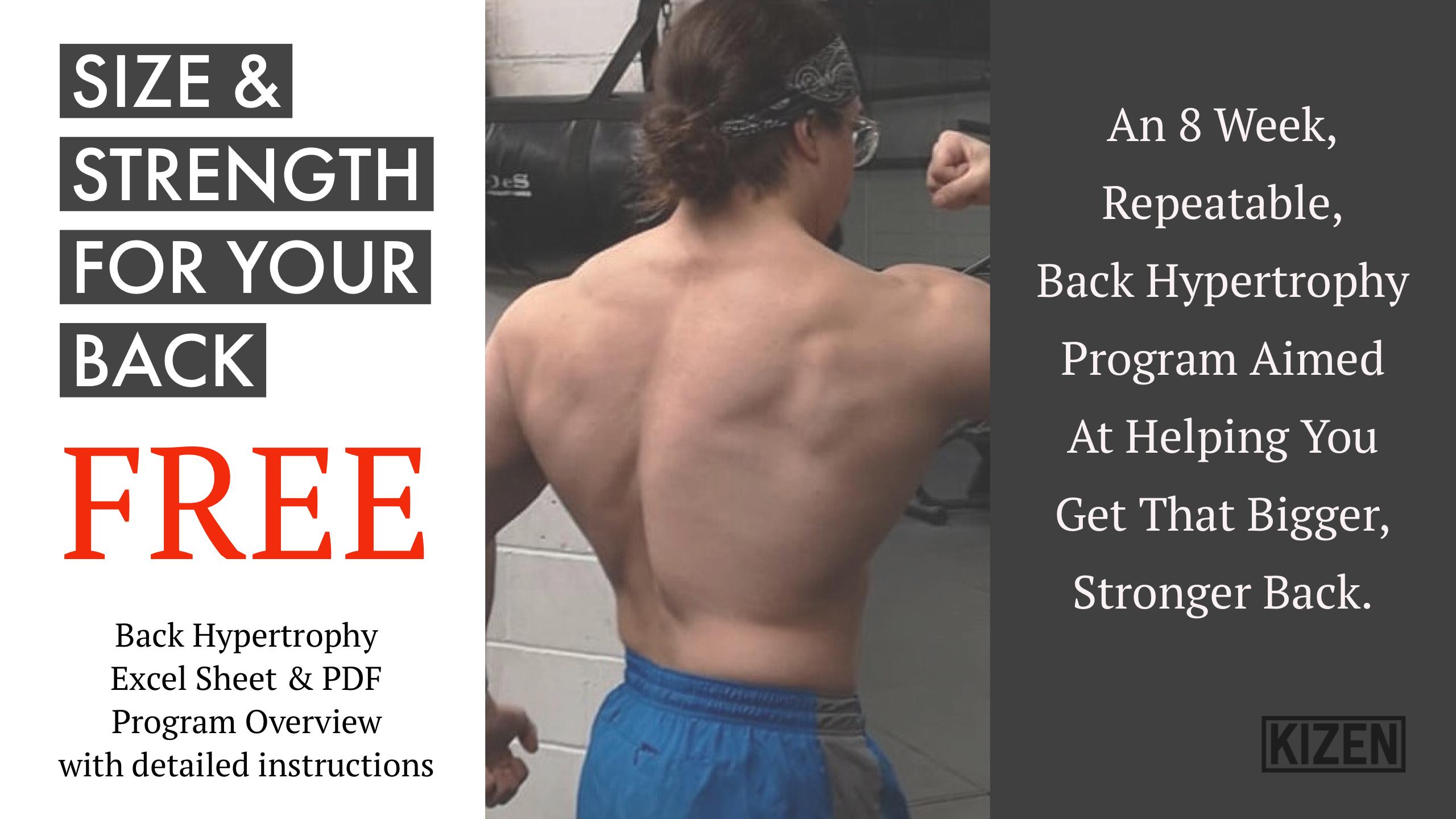 Size & Strength For Your Back | Kizen Training