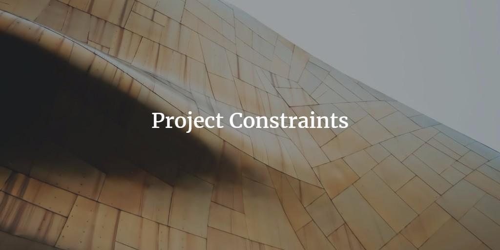 project constraints definition