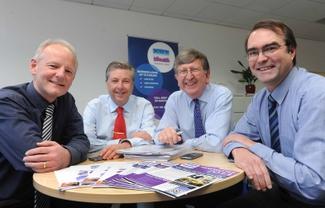 The ART lending team (left to right) Andy King, Martin Edmonds, Steve Walker and Graham Donaldson.