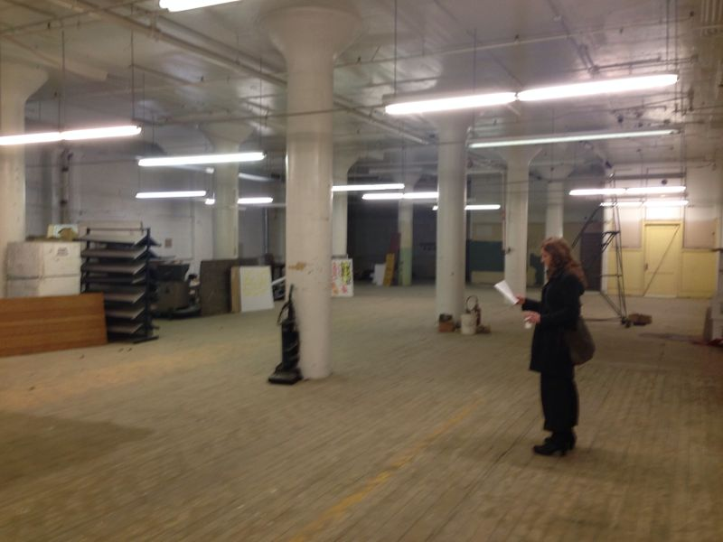 image: Artist Jes Gamble takes a first look at the space for her installation